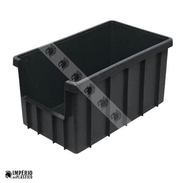Caixa Plástica Fechada 74 Litros Com Abertura Frontal
