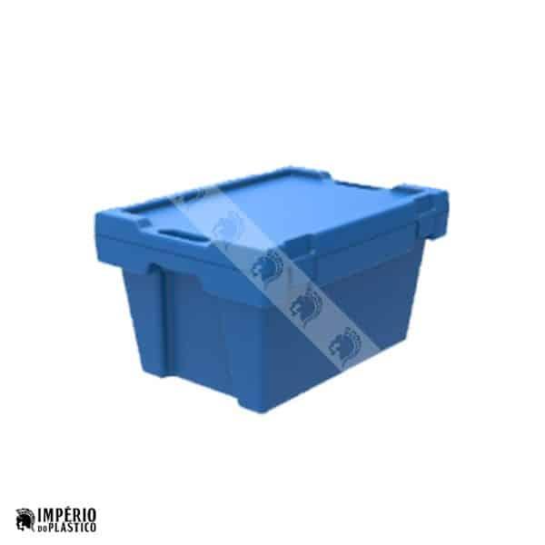 Caixa Plástica Fechada Com Tampa Acoplada 1