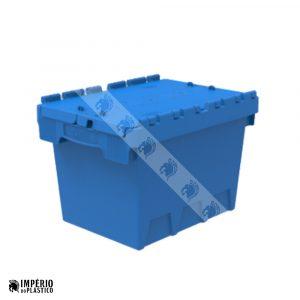 Caixa Plástica Fechada Com Tampa Acoplada 2