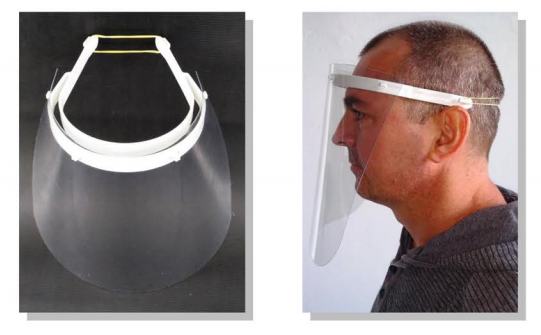 máscara protetora facial